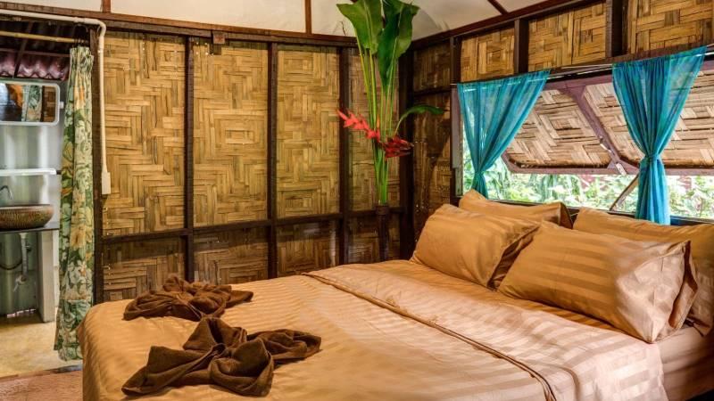 traditional bamboo huts koh phayam